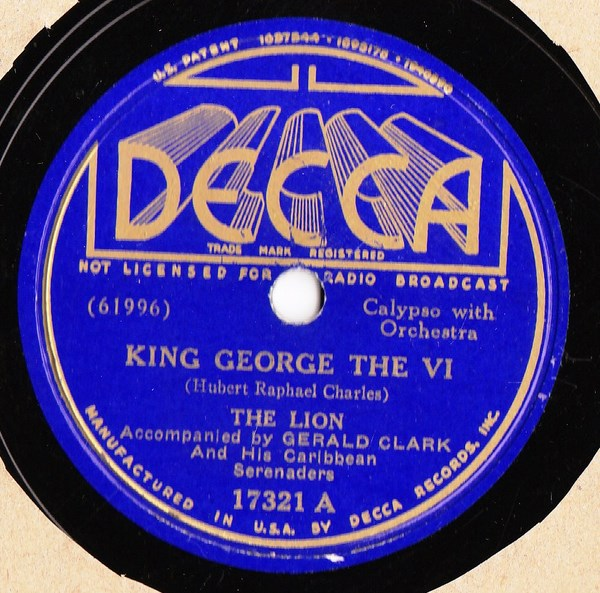 The Lion - King George the VI - Decca 17321