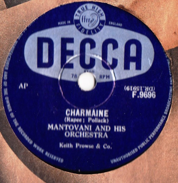 Mantovani - Charmaine - Decca F.9696 UK