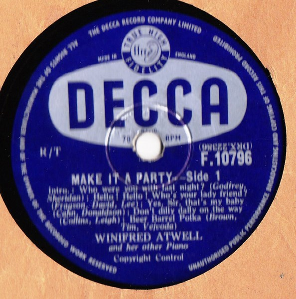 WINIFRED ATWELL - MAKE IT A PARTY - DECCA 10796