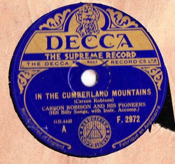 Carson Robison - In the Cumberland Mountains - Decca F.2972