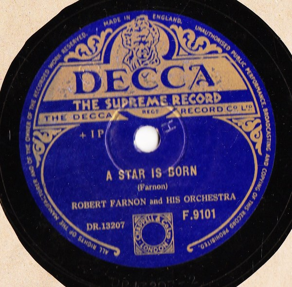 Robert Farnon - A Star is Born - Decca F.9101