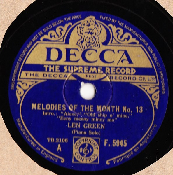 Len Green - Melodies of the Month # 13 - Decca F.5945