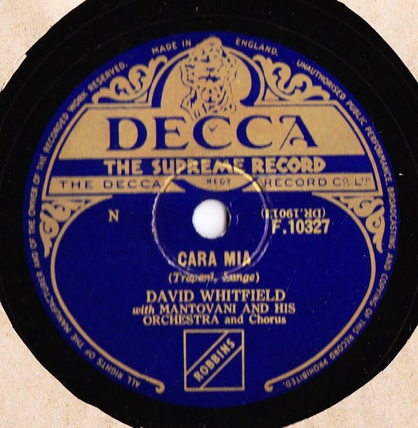 David Whitfield - Cara Mia - Decca F. 10327