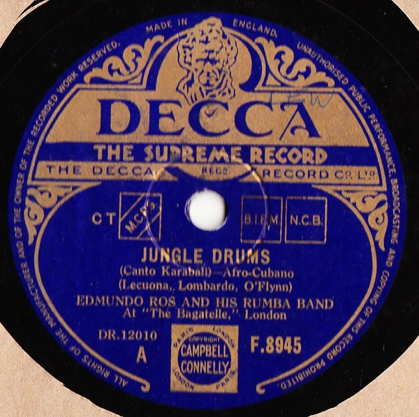 Edmundo Ros - Jungle Drums - Decca F.8945