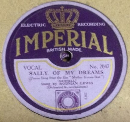 Rodman Lewis - Sally of my Dreams - Imperial 2047