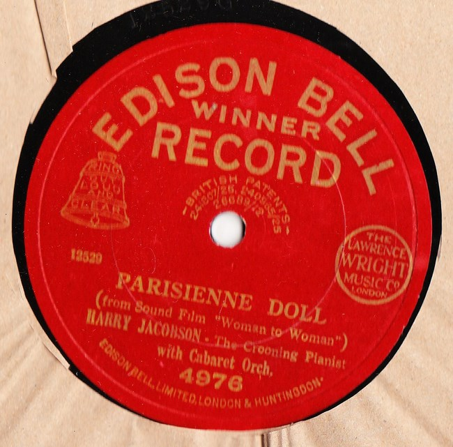 Harry Jacobson Piano - Parisienne Doll - Edison Bell 4976