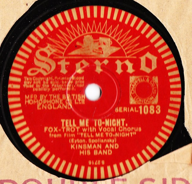 Kinsman & Orchestra - Tell me tonight - Sterno 1083