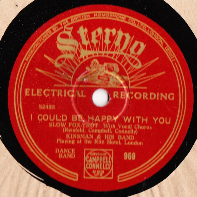 Kinsman & His Band - I could be happy with you - Sterno 969