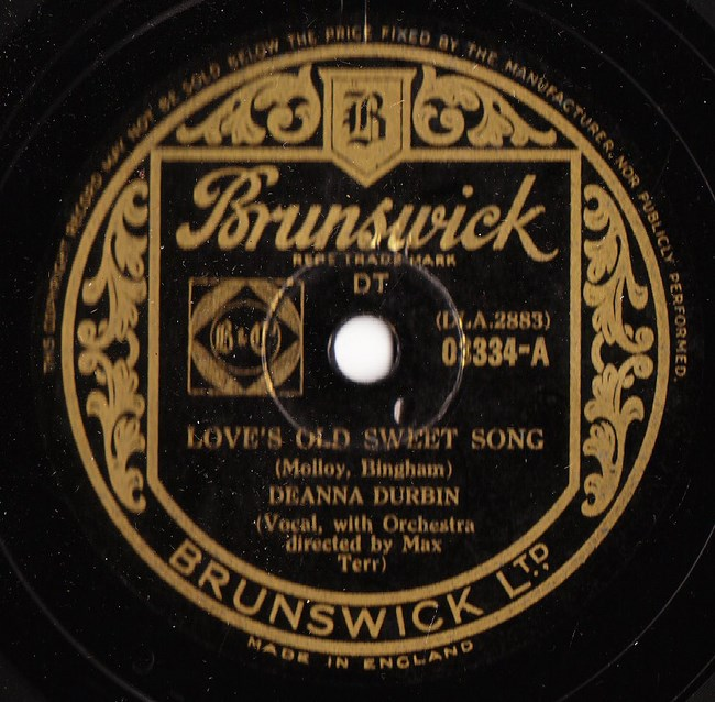 Deanna Durbin - Loves old sweet Song - Brunswick 03334