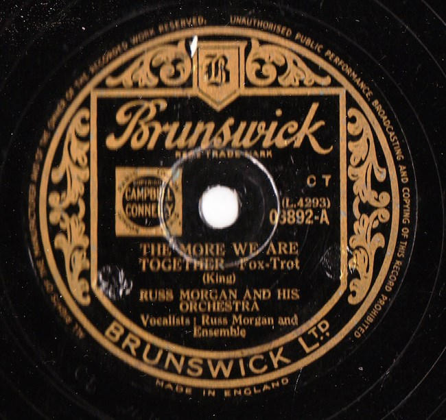 Russ Morgan - The more we are together - Brunswick 03892