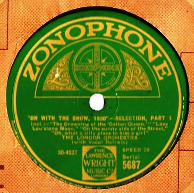 London Orchestra - On with the Show - Zonophone 5687