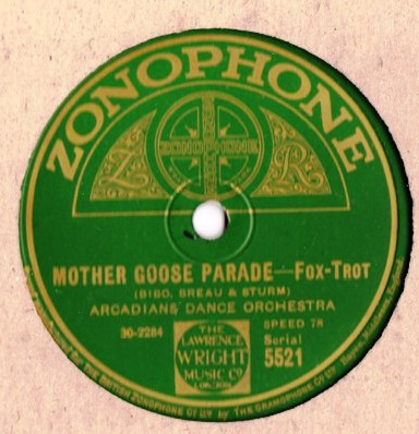Arcadians Dance Orchestra - Mother Goose - Zonophone 5521