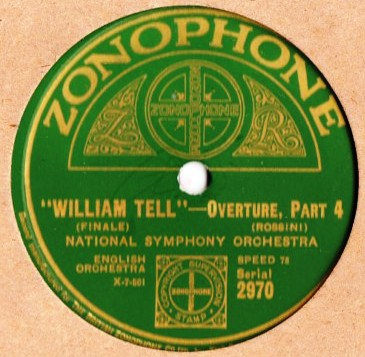 National Symphony - William Tell Overture - Zonophone 2970