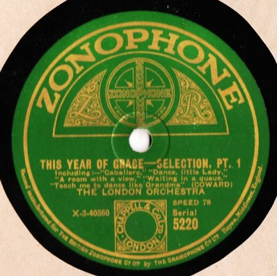 London Orchestra - This year of grace - Zonophone 5220
