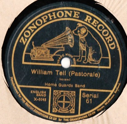 Home Guards Band - William Tell - Zonophone 61