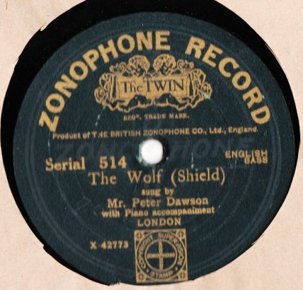 Peter Dawson - The Wolf - Zonophone 514