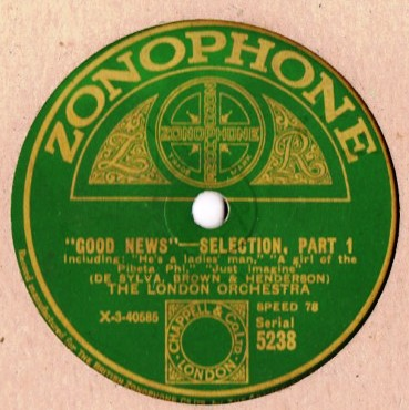 London Orchestra - Good News - Zonophone 5238
