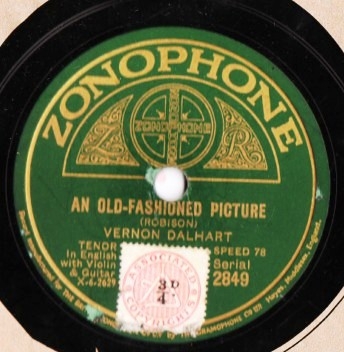Vernon Dalhart - An old fashioned Picture - Zonophone 2849