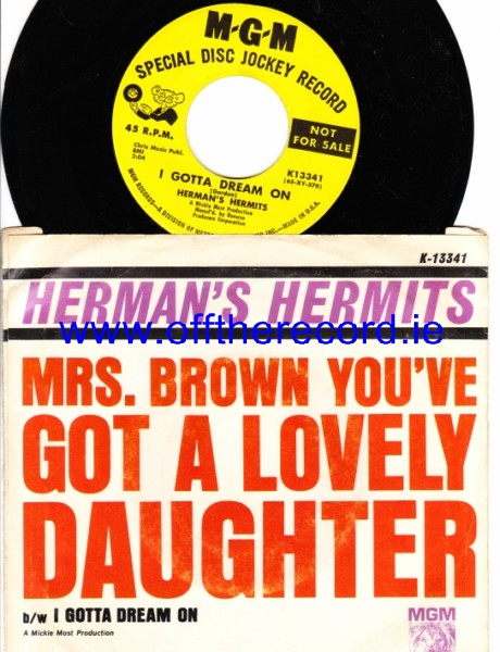 Herman's Hermits - Mrs Brown You've Lovely Daughter - MGM USA