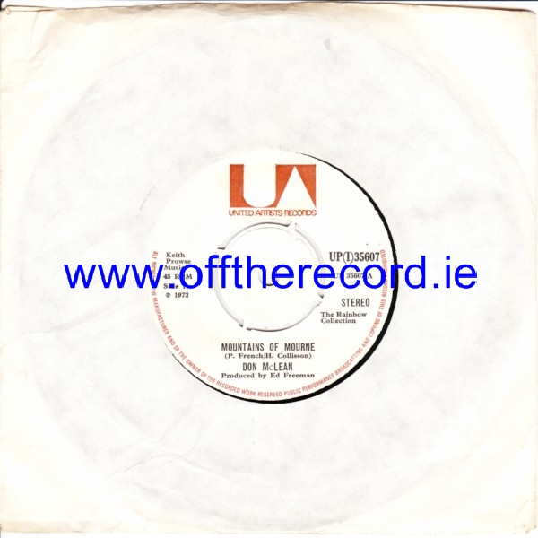 Don McLean - Mountains of Mourne - U.A. IRISH 4271