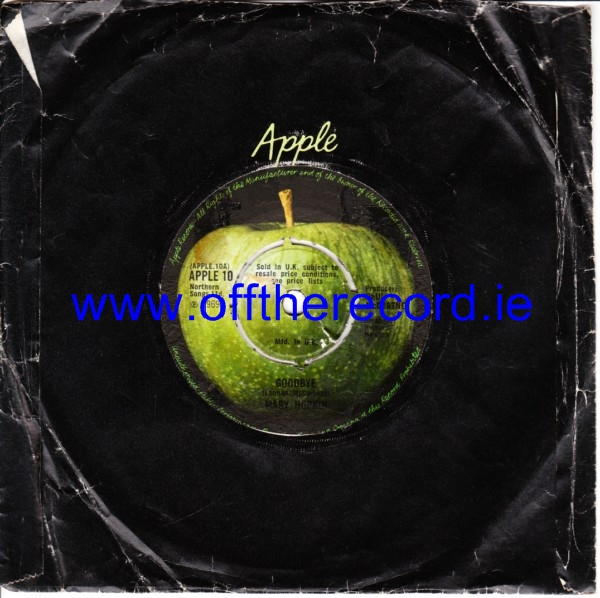 Mary Hopkin - Goodbye - Apple UK 4273
