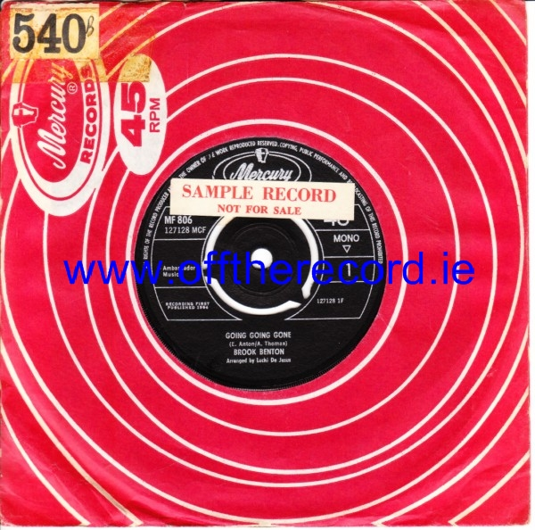 Brook Benton - Going Going Gone - Mercury UK 4308
