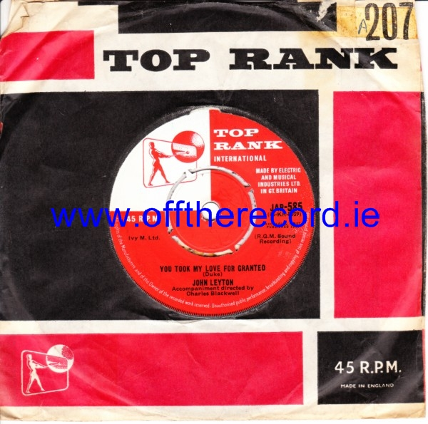 John Leyton - Wild Wind - Top Rank UK 4318