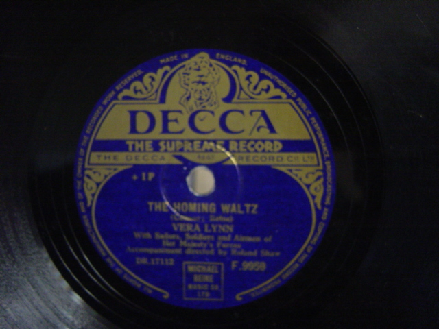 Vera Lynn - Yours / The Homing Waltz - Decca F.9959