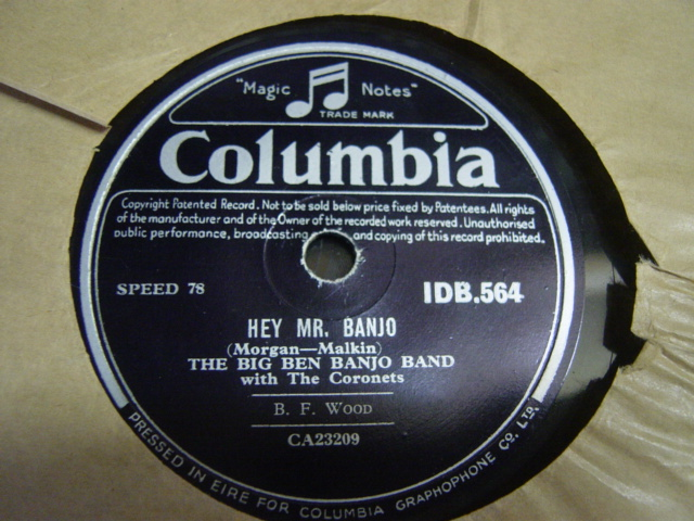 Big Ben Banjo Band - Hey Mr. Banjo - Columbia IDB.564 Irish