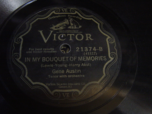 Gene Austin - Without you sweetheart - Victor 21374 USA