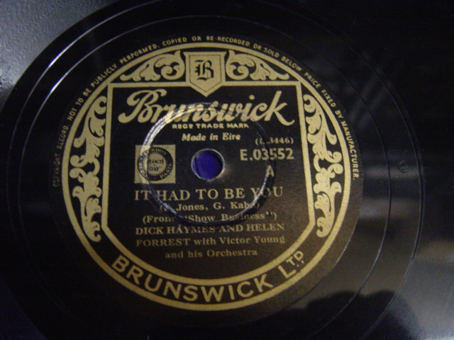 Dick Haymes & Helen Forrest It had to be with you - Brunswick