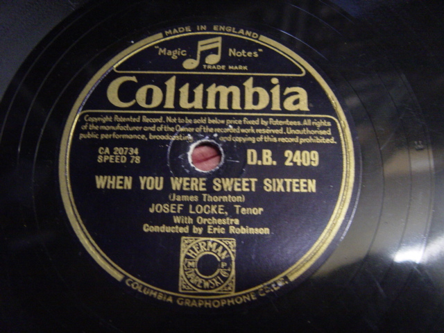 Josef Locke - Count your blessings - Columbia DB.2409