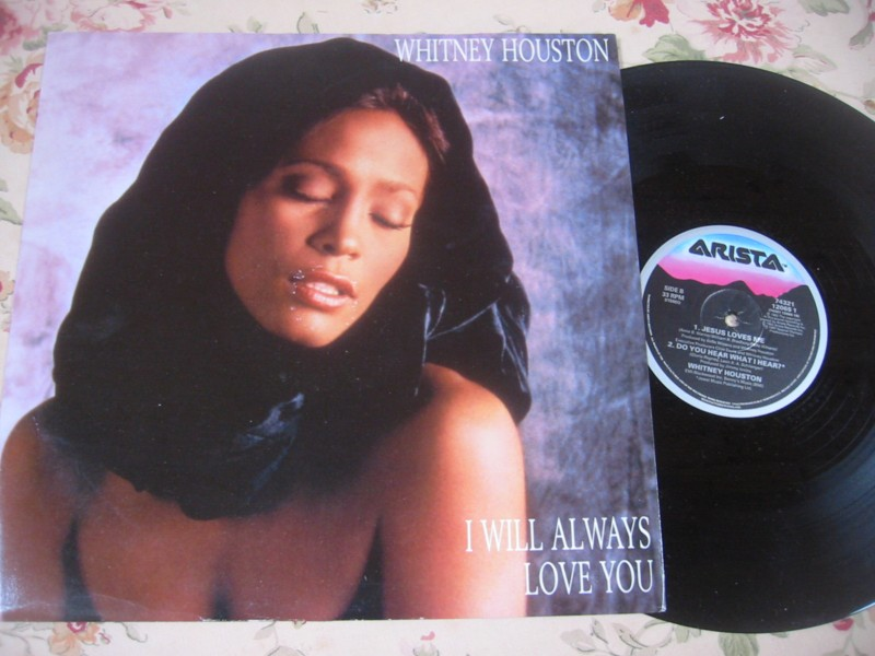 WHITNEY HOUSTON - I WILL ALWAYS LOVE YOU - ARISTA 12""