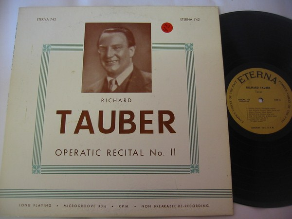RICHARD TAUBER - OPERATIC RECITAL - SCALA - MV 34