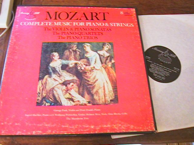 MOZART - PIANO & STRINGS COMPLETE 8 LP MURRAY HILL { R 113