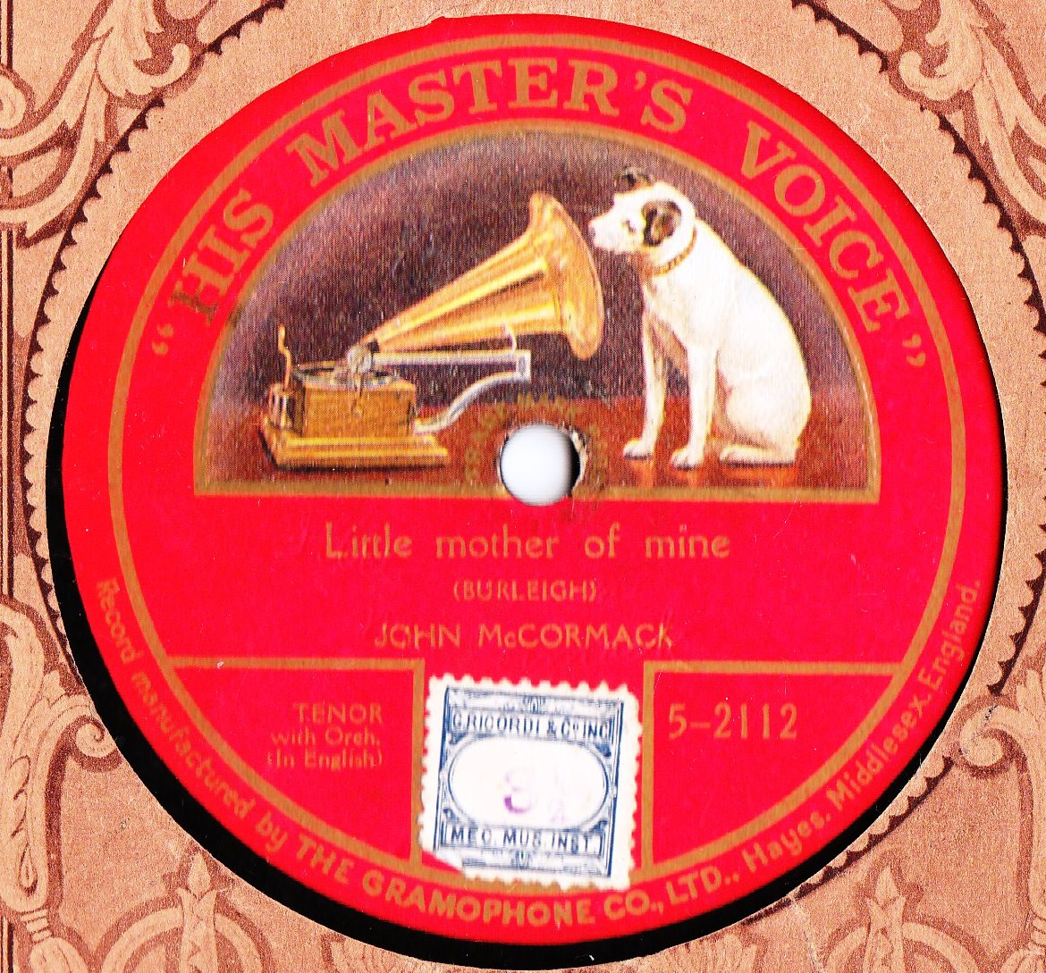 John McCormack - Little Mother Mine - HMV 5-2112 Onesided