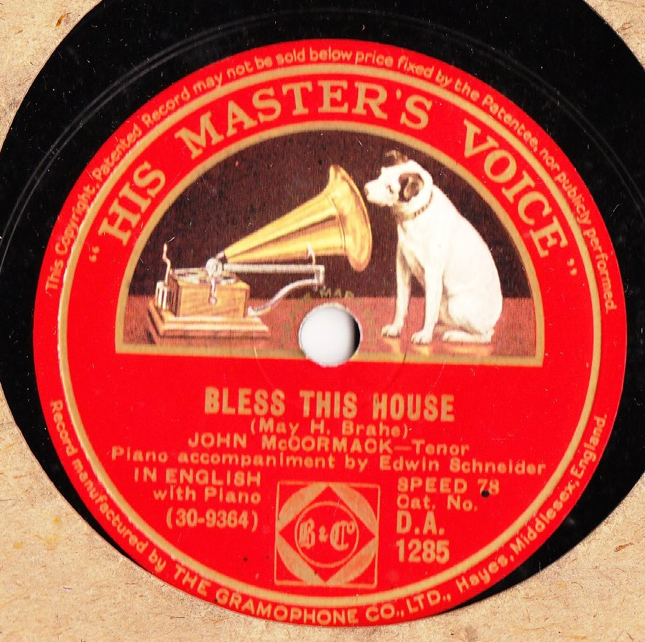 John McCormack - Bless this House - HMV DA 1285