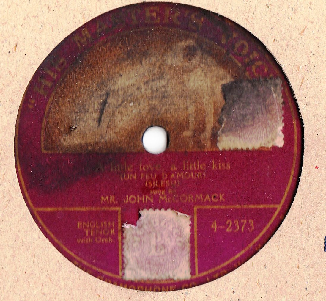 John McCormack - A little love - HMV 4-2373 Onesided