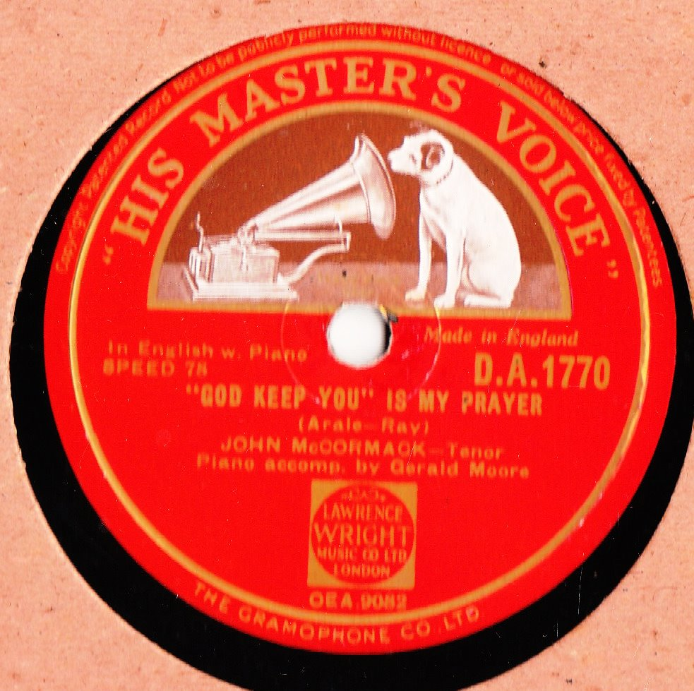 John McCormack - God keep you is my Prayer - HMV DA 1770