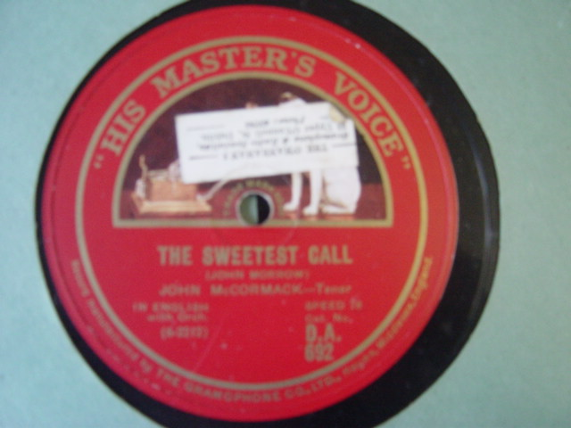 John McCormack - The Sweetest Call - HMV DA.692 Ex