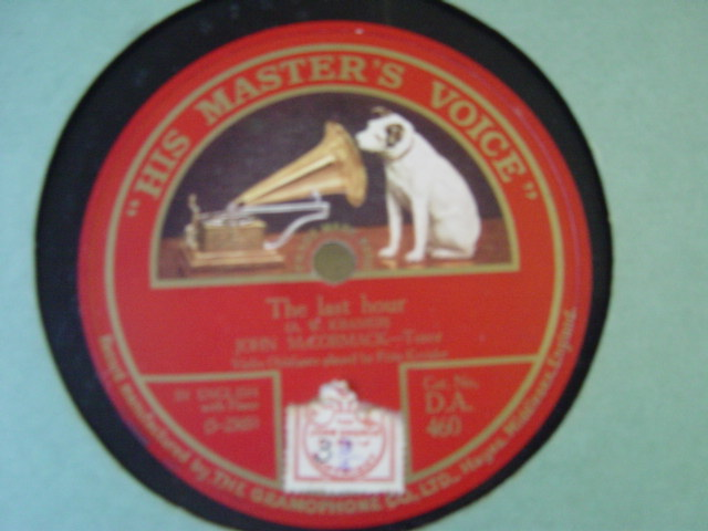 John McCormack - Calm as the night - HMV DA.460 Ex