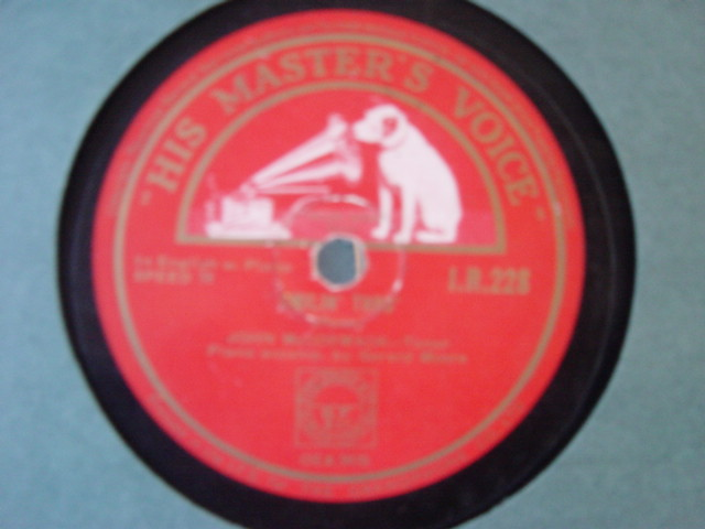 John McCormack - The Devout Lover - HMV IR.228 Irish