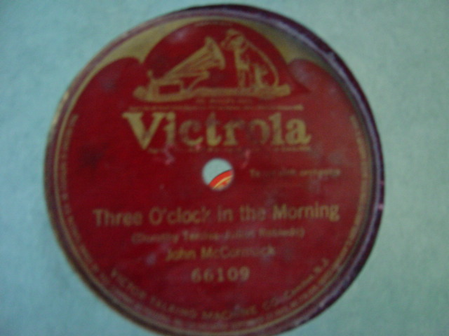 John McCormack - Three O Clock in the Morning - Victrola 66109