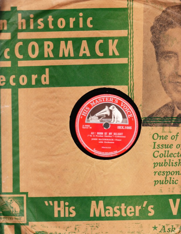 John McCormack - Come into the Garden Maud - HMV IRX 1005