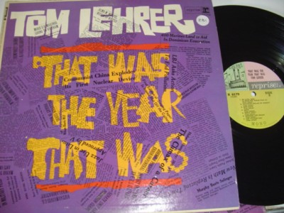 TOM LEHRER - THAT WAS THE YEAR - REPRISE 281