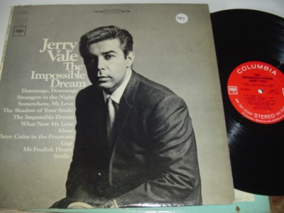 JERRY VALE - THE IMPOSSIBLE DREAM - COLUMBIA 289