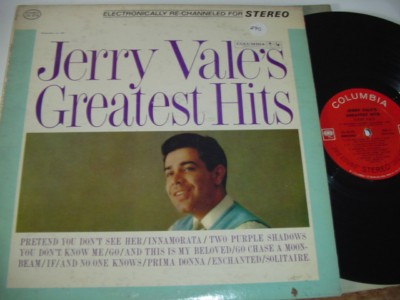 JERRY VALE - GREATEST HITS - COLUMBIA 290