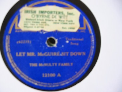 The McNulty Family - Let Mr McGuire sit down - Decca IUSA