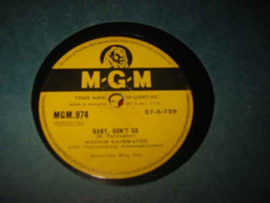 MARVIN RAINWATER - BABY DONT GO - MGM RARE 78 rpm