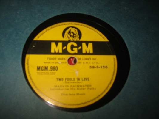 MARVIN RAINWATER - TWO FOOLS IN LOVE - MGM RARE 78 rpm